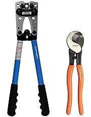 Dechengbao batterikabel krökning verktyg från AWG 8-1/0 med kabelskärare