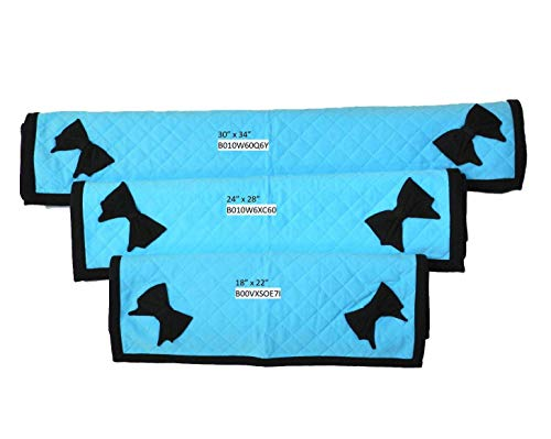 Quilted Blanket Set Aqua Blue (Set of all 3 sizes)