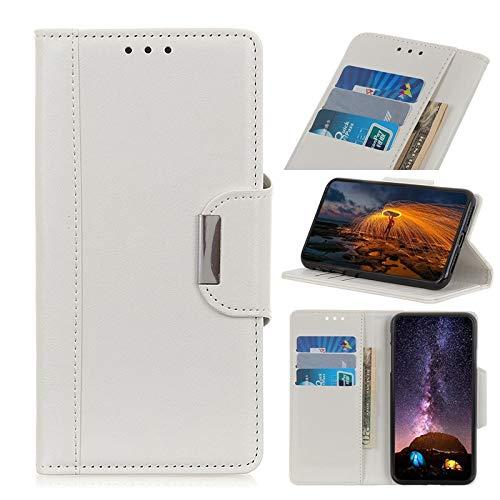 Happy-L Caso Samsung Galaxy A71, Caja de Cartera de Cuero PU con Hebilla magnética, Funda de Soporte de Flip para Samsung Galaxy A71 (Color : White)
