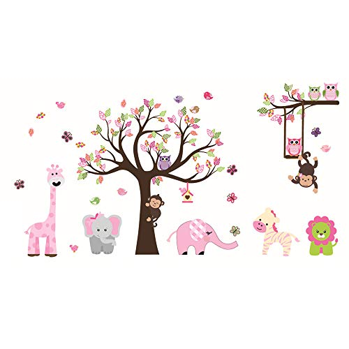 pink monkey wall decals - 2