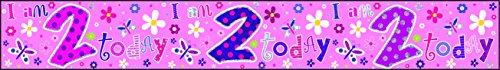 Creative Bannière Happy Birthday 2 Ans (Fille)