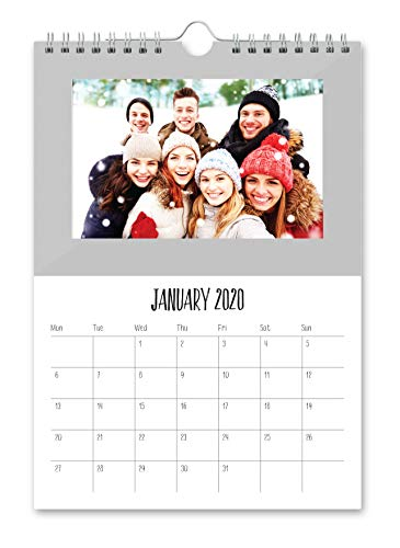 Shot2go 2020 - Calendario de fotos colgante, color plateado, para 12 fotos de 10 x 15 cm