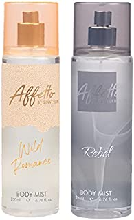 Affetto By Sunny Leone Romance & Rebel Body Mist - For Women 200ML Each (400ML, Pack of 2)