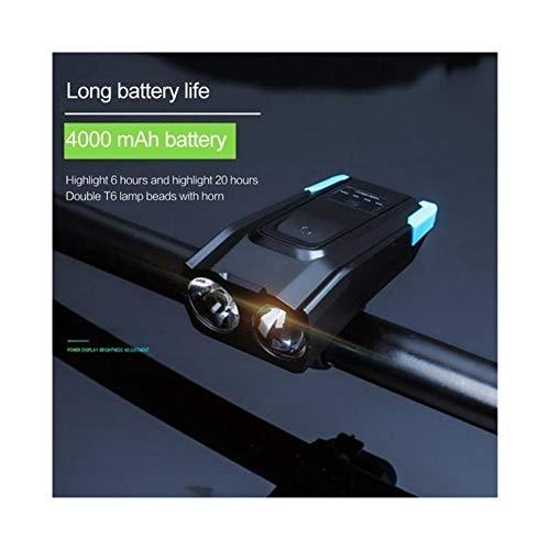 XiaAOFANG 800 Lumen Induktions-Fahrrad-Beleuchtung, USB, wiederaufladbar, intelligenter Scheinwerfer, Cornu 4000 mAh LED, Fahrradlampe, Zykluslicht blau