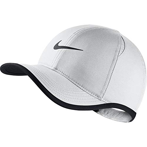 Nike Youth Aerobill Featherlight Cap Hat (White(739376-100)/Black, One Size)