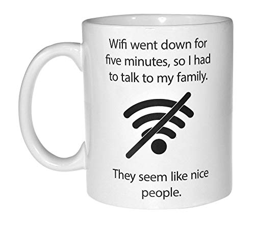 Wifi Quote Funny Coffee or Tea Mug -...