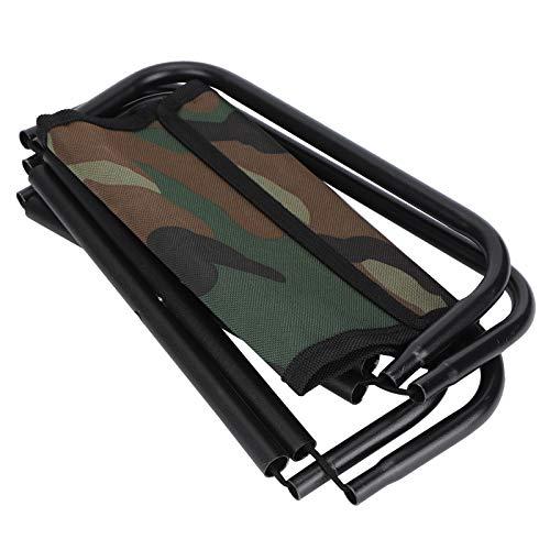 01 Silla de Camping de Color Camuflaje de Tela Oxford + Acero Inoxidable, Silla de Pesca para Accesorios al Aire Libre, para Patio de Playa