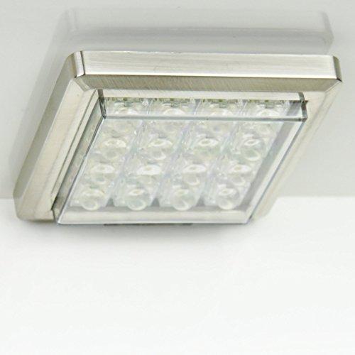 3er Set LED Chrom-Unterbauleuchte 16 LEDs warmweiß mit Netzteil Unterbaustrahler