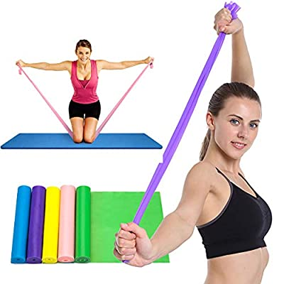 QingJoy Exercise Band Long Resistance Loop Sport Yoga Elastic String Natural Latex Elastic Exercise Equipment for Physical Therapy Pilates Stretch Strength Training Workout
