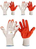 SAFEYURA Reusable Cut Resistant Gardening Gloves (Orange) -3 Pairs