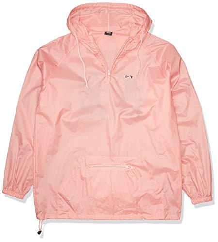 Obey Men's Break Thru Anorak Jacket, Pink, 2XL