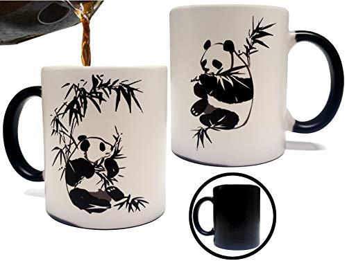 Color Changing Heat Sensitive Panda Mug - Artwork on Both Sides- 11oz Grade A Quality Ceramic Mug /...