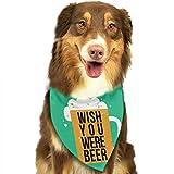 Wfispiy Dog Bandana Pet Scarf Wish Beer Classic Pet Bandana Pet Collares para Perro Gato un tamaño