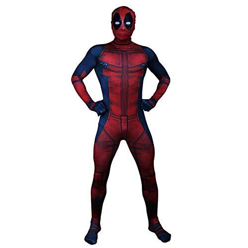 YQFZ Deadpool Cosplay Kostuum, Kerst Show Cosplay Kostuum, Volwassenen Kinderen Feestkleding Kleding, Super Hero Bodysuit Spandex Jumpsuits