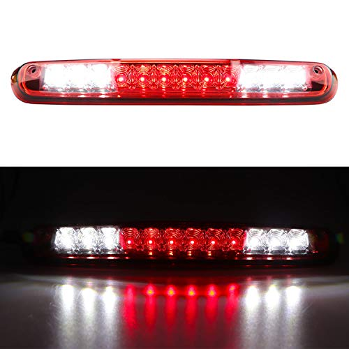 For 2007-2013 Chevrolet Silverado/GMC Sierra 1500 2500HD 3500HD LED Third 3rd Brake Light Cargo Light Center High Mount Lamp Tail Light (Red Lens)