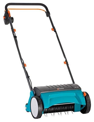 Gardena Elektro-Rasenlüfter ES 500: Vertikutierer mit Arbeitsbreite 30 cm, Rasenfläche bis 600 m², Leistung 500 W, Verstellhebel für Arbeitstiefe, teilbares Gestänge, Räder mit Spezialprofil (4066-20)