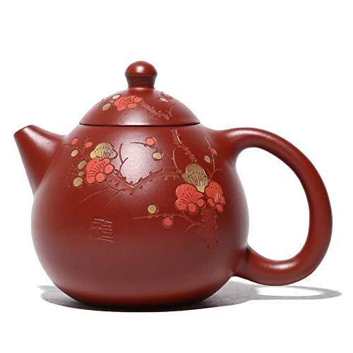 LIMEI-ZEN Teekannen Yixing Teekanne echte Dahongpao Handgemachte Farbton Dracheneier Handgemalte Blumentopf Teekanne Tee