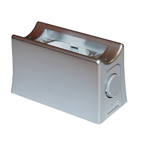 Fassung Linienlampe für Osram Linestra Ralina 35W & 60W S14d ein Sockel mit Schalter silber grau