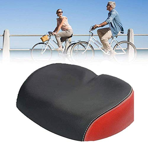 VGYRT TSHIRT Wide Bike Seat Bicycle Seats for Comfort Mountain Bike Bicycle Saddle, Bicycle Seats Bike Wide Cushion