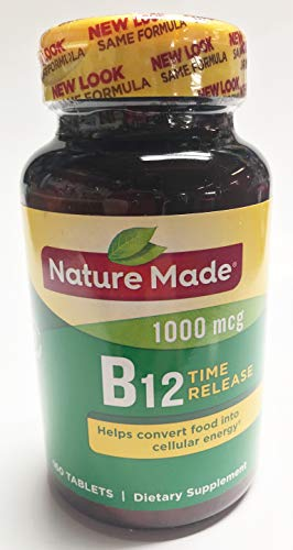 Nature Made Vitamin B-12 Timed Release Tablets, Value Size, 1000 Mcg, 160 Count (Pack of 2)