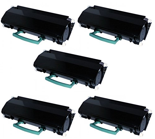 5 Toner Compatibili Cartuccia Laser per Lexmark X264DN X363DN X364DN X364DW - Nero, Alta Resa