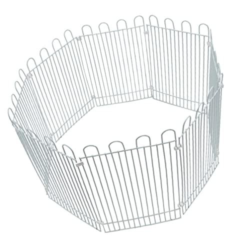 POPETPOP Hamster Cage Liten Djur Lek Husdjur Cage Säkerhetsstängsel Patio Landskap Edging Stakes Trädgårdsstängsel Dekor För Inomhus Utomhus Ute Vit 8Pcs