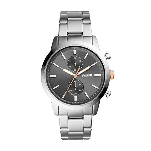 Fossil Herren Analog Quarz Uhr mit Edelstahl Armband FS5407