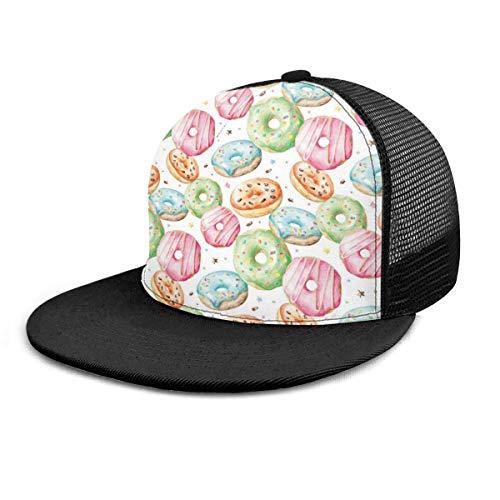 ZCHW Baseball Cap Watercolor Delicious Donuts Stars 3D Adjustable Baseball Caps Snapback Flat Bill Hip Hop Hats/Hat