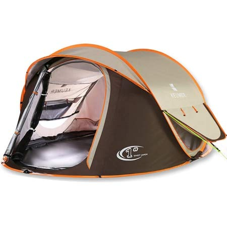Mdsfe HUI LINGYANG Tent outdoor automatic Tents throwing pop up waterproof camping hiking tent waterproof large family tents-101-brown,A1