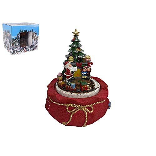 Mazzeo Carillon Albero di Natale con Trenino Elettrico e Bimbi, 18 x 16 cm, età 3+