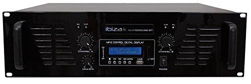 IBIS amp1000usb-bt Vorverstärker mit Bluetooth USB 2x 800W schwarz