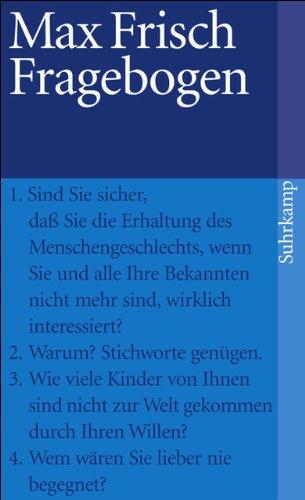 Fragebogen (suhrkamp taschenbuch)
