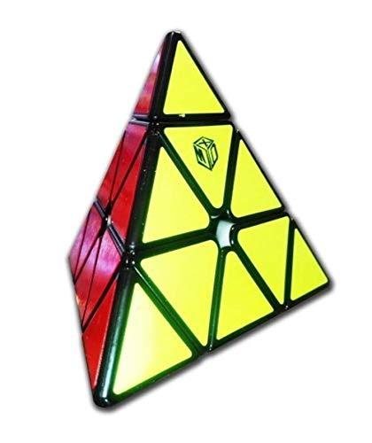 QiYi Pyraminx Bell Magnetic X-Man Design By Yukub - Negro