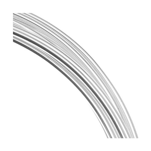 Silver Plated Copper German Bead Wire Craft Wire 22 Gauge/.6mm (10 Meters / 32.8 Feet)