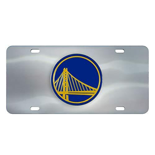 Golden State Warriors NBA Diecast 3D Logo License Plate