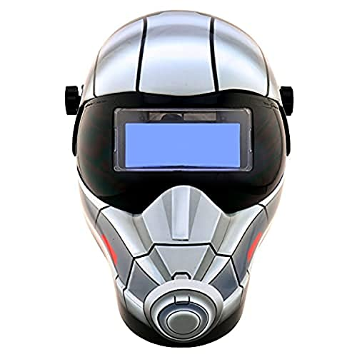 Save Phace Auto Darkening Welding Helmet Antman EFP F-Series - Ear to Ear Vision Welder Hood Grinding Mask with 4.3 x 2 Inch Adjustable ADF for SMAC/MIG/TIG - 2 Sensors Solar Powered