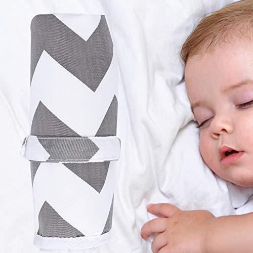 Almohadilla cambiante Almohadilla para orina infantil, Almohadilla para cama, para viajes de bebés y niños(Wave gray)