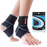 Ankle Support 1 Pair, Adjustable Ankle Support Brace for Women/Men/Kids, Elastic Compression Ankle