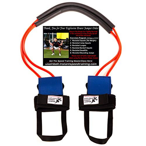 Explosive Power Jumper, Resistance Bands for Increased Speed, Vertical Jump, Leg Strength, Agility and Acceleration | Used by Athletes of All Sports, Training Program Included