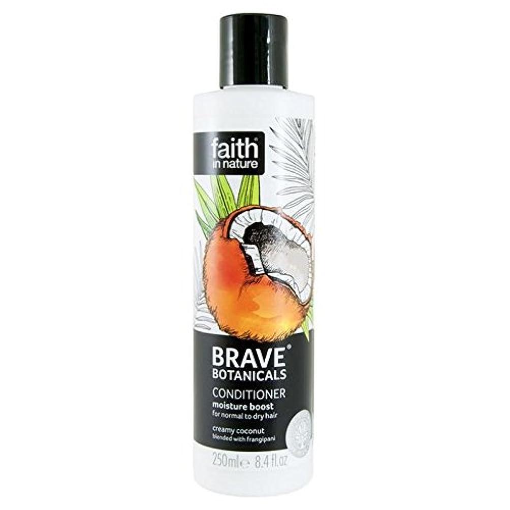 食堂野心記述するBrave Botanicals Coconut & Frangipani Moisture Boost Conditioner 250ml - (Faith In Nature) 勇敢な植物ココナッツ&プルメリア水分ブーストコンディショナー250Ml [並行輸入品]
