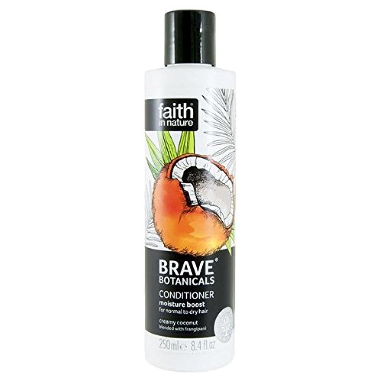眠いです麻痺略すBrave Botanicals Coconut & Frangipani Moisture Boost Conditioner 250ml (Pack of 4) - (Faith In Nature) 勇敢な植物ココナッツ&プルメリア水分ブーストコンディショナー250Ml (x4) [並行輸入品]