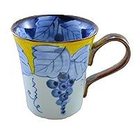 マグカップ 有田焼 波佐見焼 渕濃ぶどうマグ(黄) 葡萄 縁起物 和食器 陶器 三階菱