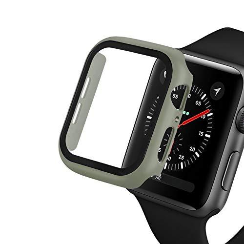 WSGGFA Reloj Funda para Apple Watch 5/4 40mm 44mm Caso PC Parachoques Protector de Vidrio Templado Película para iWatch Series 3/2 38mm 42mm Cubierta