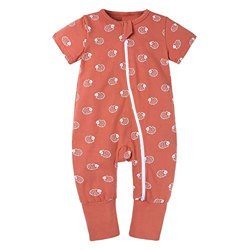 Happy Cherry - 0,5 Tog Sac de Couchage avec Pieds bébé été Coton avec imprimé Mignon bébé vêtements de Nuit Cadeau pour Nouveau-né Confortable Ultra-léger