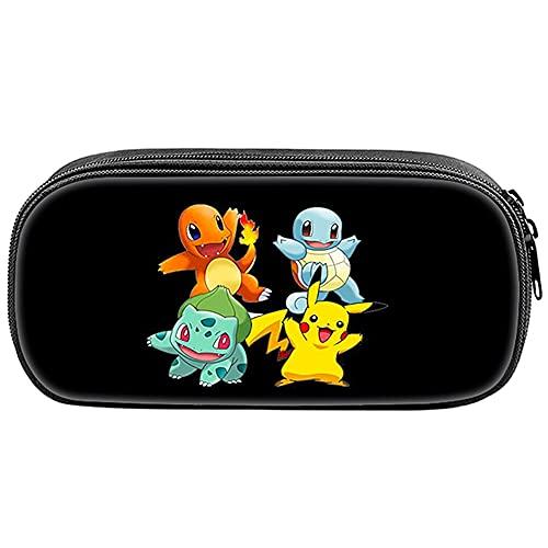 Estuche de Lápices Pokemon, Pokemon Bolsa de Lápices, Portátil Pikachu Estuches para lápices de Gran Capacidad, Pikachu Estuches Escolares,bolsa para Cosméticos, Funda Organizador Portalapices