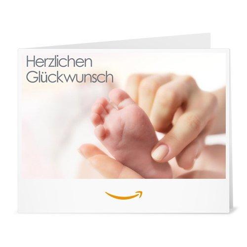 Amazon.de Gutschein zum Drucken (Glückwunsch zum Baby)