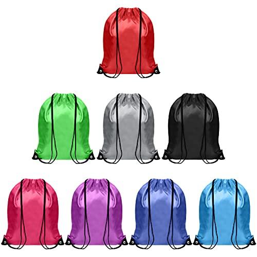 BELLE VOUS Borsa Palestra Multicolor con Coulisse (Set da 8) - 42 x 35 cm - Zaino Sacca Sportiva per Riporre Indumenti, Viaggiare e Sport - Sacche Sportive Unisex per Adulti e Bambini