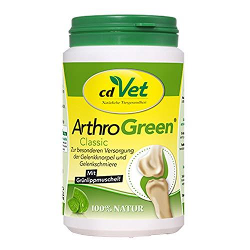 cdVet Naturprodukte ArthroGreen Classic 165g - natürliche und effektive Nahrungsergänzung zur Unterstützung der Gelenke für Hund und für Katze durch Vitamine und Mineralien