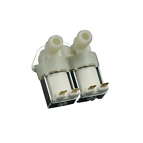 Universal Magnetventil 2-fach 180° 14,0mmØ Waschmaschine Spülmaschine