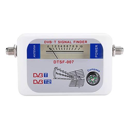DAUERHAFT Medidor de Sensor Inteligente Buscador de señal satelital Medidor de Intensidad de señal Medición de Intensidad de señal fácil de Leer, para TV, para Antena satelital remota